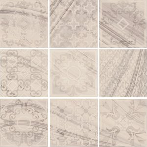 Фото  Set Decoro Formella Selenite Lap Rett (9 Pcs.)