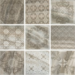 Фото  Set Decoro Formella Turchese Lap Rett (9 Pcs.)