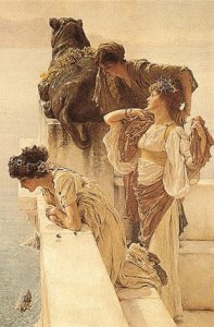 Фото  Alma-Tadema A Coign Of Vantage (With Hanging Bracket)