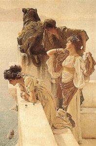Фото  Alma-Tadema A Coign Of Vantage