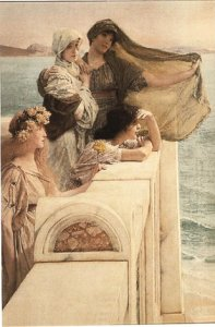 Фото  Alma-Tadema At Aphrodite's Cradle (With Hanging Bracket)