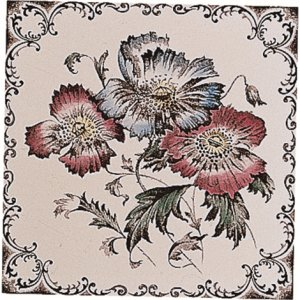 Фото  Poppies, Scroll Border Colonial White