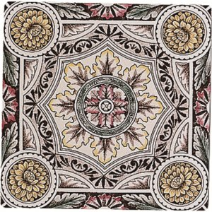 Фото  Symmetrical Floral Pattern Colonial White