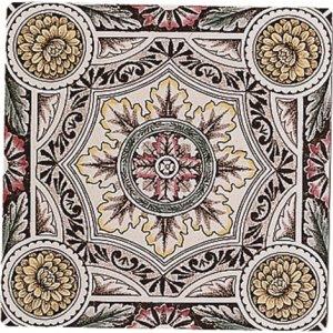 Фото  Symmetrical Floral Pattern Colonial White