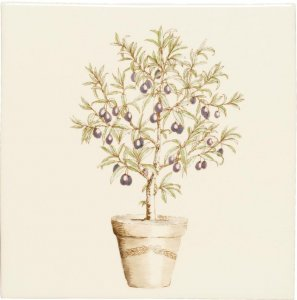 Фото  Potted Olive Tree Plaque W.HP1530