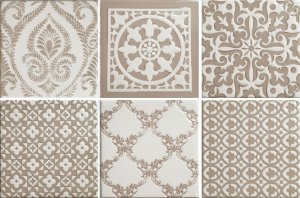 Фото  Mix Patchwork Dark Ivory