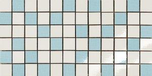 Фото  Mosaico Random Bianco-Celeste