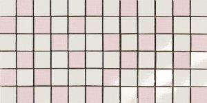 Фото  Mosaico Random Bianco-Rosa