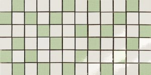 Фото  Mosaico Random Bianco-Verde